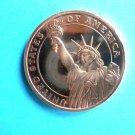 Coin US Statue Of Liberty 1oz Copper Round