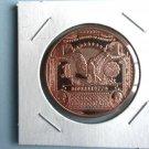 Coin US $1 Black Eagle Banknote 1 oz Copper Round