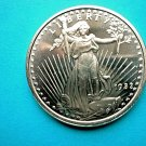 Coin US St Gaudens Eagle Crest 1 oz Copper Round
