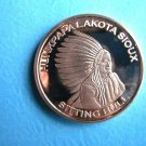 Coin US Chief Sitting Bull 1 A.V.D.P. Copper Ounce 1 oz Copper Round