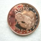 Coin US Aries Horoscope Series 1 oz Copper Round