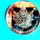 Coin US Canadian Maple Leaf 1 oz Copper Round
