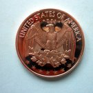 Coin US Eagle Design Of Washington Quarter Rev 1 oz Copper Round