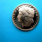 Coin US Morgan Dollar Eagle Crest Back 1 oz Copper Round