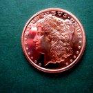 Coin US Morgan Dollar Large Eagle Back 1 oz Copper Round