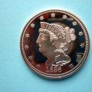 Coin US Braided Hair Cent 1836 1 oz Copper Round