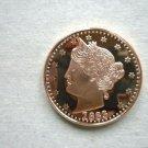 Coin US 1883 Liberty V Nickel 1 oz Copper Round