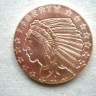 Coin US Incuse Indian No Date 1 Oz Copper Round