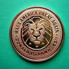 Coin US Trump Made America Great Again Lion 1 Oz Copper Round