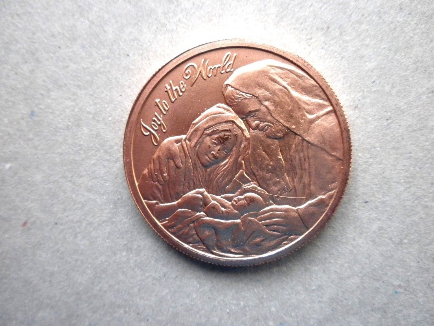 Coin US Joy to the World 2016 1 Oz Copper Round Limited