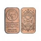 Super 1 oz Copper Bar - Indian Head
