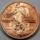 Coin 1 oz Copper Round - Starving Liberty Zombucks