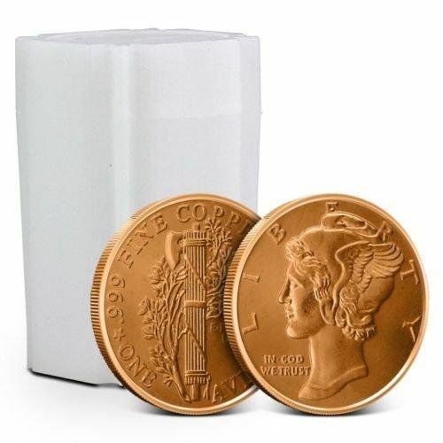 Coin Set 20 - 1 oz Copper Rounds Mercury Dime