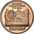 Coin US 1 oz Copper Round - Santa at Fireplace