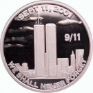 Coin US 1 oz Copper Round - 9/11 We Shall Never Forget