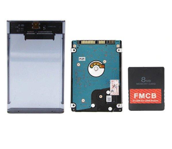 HDD External 500GB + FMCB PS2 SATA Hard Drive USB 3.0 With 129+ Games