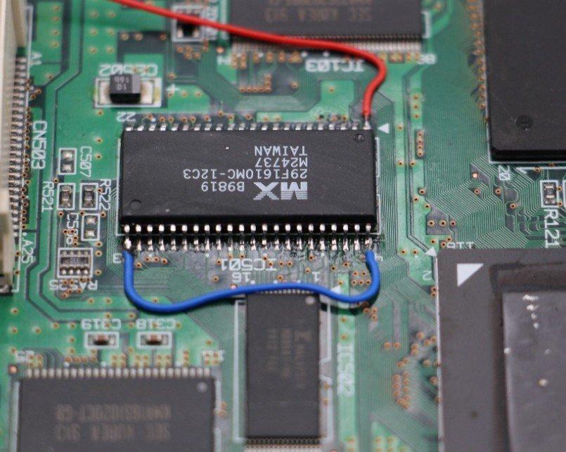 SEGA Dreamcast BIOS Chip MX29LV160TMC-90 and 29F1610 Bootloader BIOS