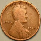 1917 Lincoln Wheat Penny - G VG