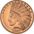 Coin 1 oz Copper Round - 1907 Indian