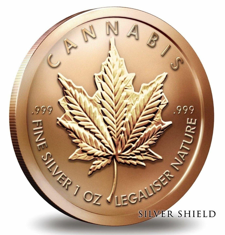 Coin 1 oz Copper Round - Cannabis 2014