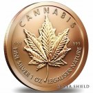 Coin 1 oz Copper Round - Cannabis 2014