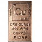 US 1 oz Copper Bar - Elemental