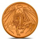 Coin 1 oz Copper Round - The Norse World of Dragons Series