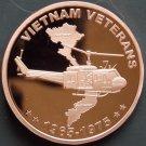 Coin 1 oz Copper Round - Vietnam Veteran