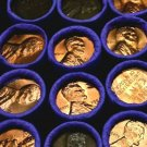 Rare Set Of Uncirculated BU Penny Lincoln Wheat Cent Roll PDS Mixed Dates