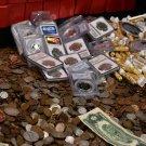 Big Sale Estate Lot Old US Coins Money Gold Silver Bars Bullion Hoard