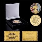 Super Sky US 2017 Lady Statue of Liberty Gold Plated Coin With Box