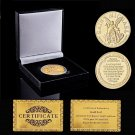 Super Sky US Guardian Prayer Archangel 2nd Amendment Gold Coin With Box