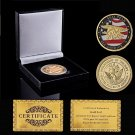 Super Sky US Navy Seal Team Sea Land Air Military Gold Coin With Box