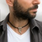 Men's Necklace - Men's Choker Necklace - Men's Leather Necklace - Men's Jewelry - Men's Gift