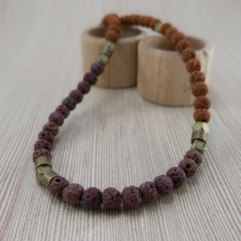 Men Necklace - Men Choker Necklace - Men Beaded Necklace - Men Jewelry - Men Gift