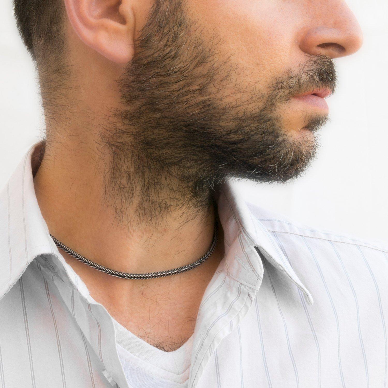 Men's Necklace - Men's Choker Necklace - Men's Silver Necklace - Men's Jewelry - Men's Gift