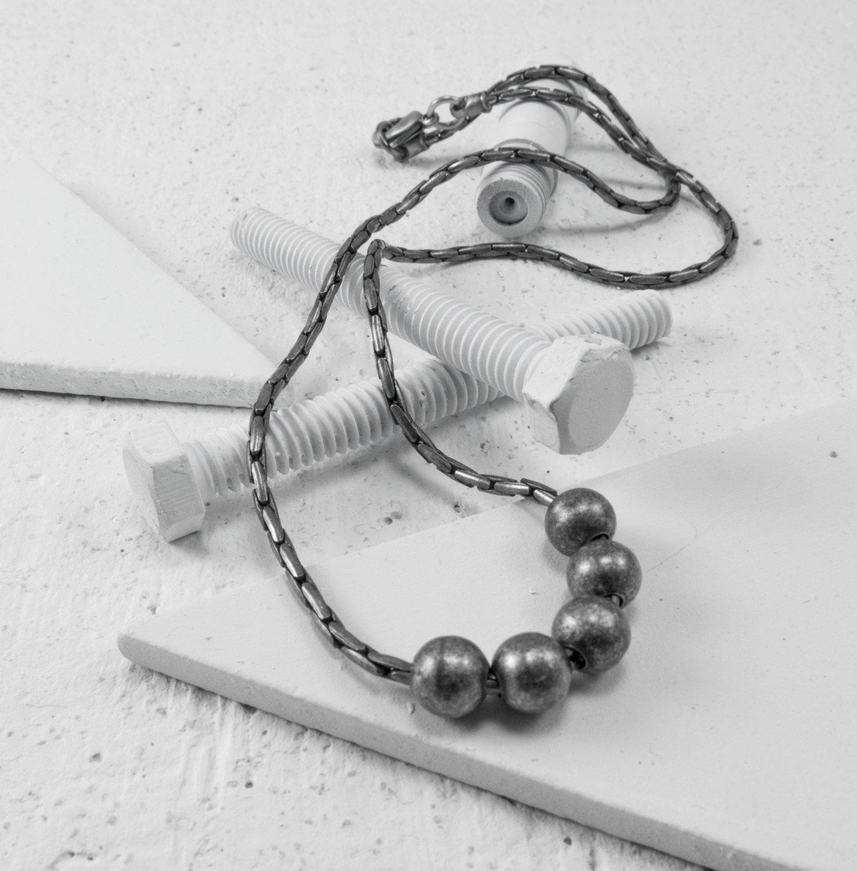 Men Necklace - Men Choker Necklace - Men Silver Necklace - Men Jewelry - Men Gift