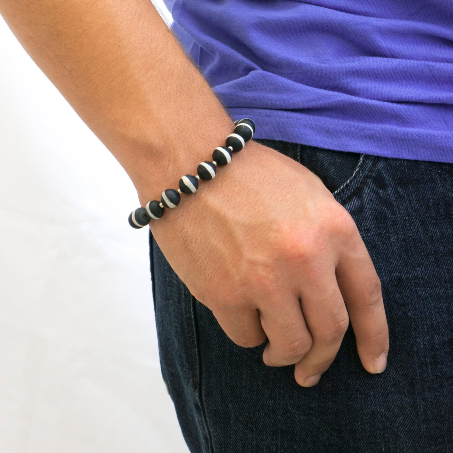 Men's Bracelet - Men's Beaded Bracelet - Men's Jewelry - Men's Vegan Bracelet - Men's Gift