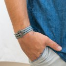 Men's Bracelet - Men's Jewelry - Men's Nautical Bracelet - Men's Vegan Bracelet - Men's Gift