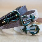 Men's Bracelet - Men's Jewelry - Men's Leather Bracelet - Men's anchor Bracelet - Men's Gift