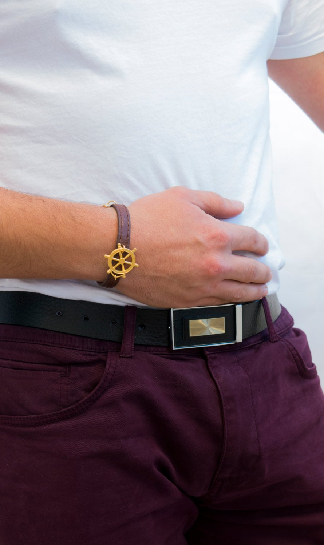Men's Bracelet - Men's Jewelry - Men's Leather Bracelet - Men's Nautical Bracelet - Men's Gift