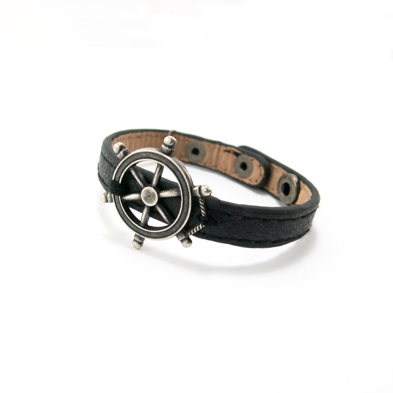 Men Bracelet - Men Jewelry - Men Leather Bracelet - Men Nautical Bracelet - Men Gift
