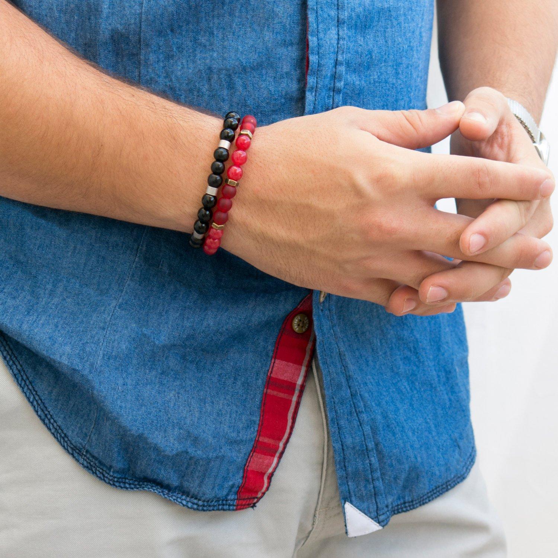 Men's Bracelet Set - Set of 2 Bracelets For Men - Men's Jewelry - Men's Beaded Bracelet