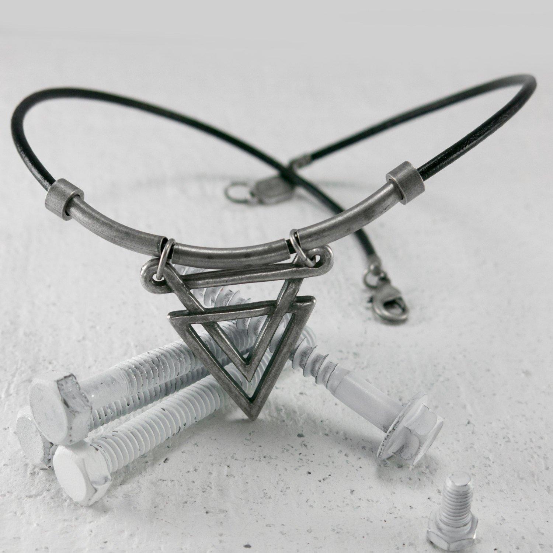 Men's Necklace - Men's Choker Necklace - Men's Leather Necklace - Men's Jewelry - Men's Gift