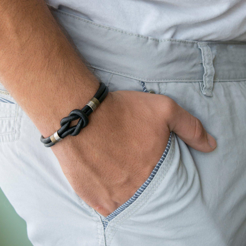 Men's Bracelet - Men's Leather Bracelet - Men's Celtic Bracelet - Men's Jewelry - Men's Gift