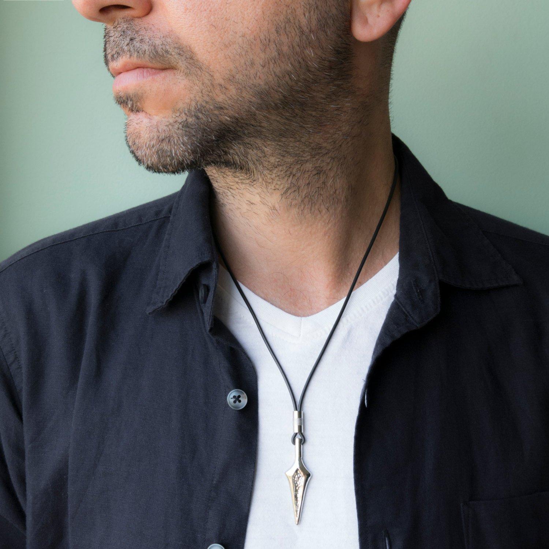 Men's Necklace - Men's Silver Necklace - Men's Jewelry - Men's Gift - Boyfriend Gift