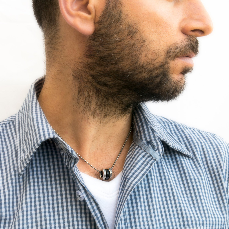 Men's Necklace - Men's Silver Necklace - Men's Vegan Necklace - Men's Jewelry - Men's Gift