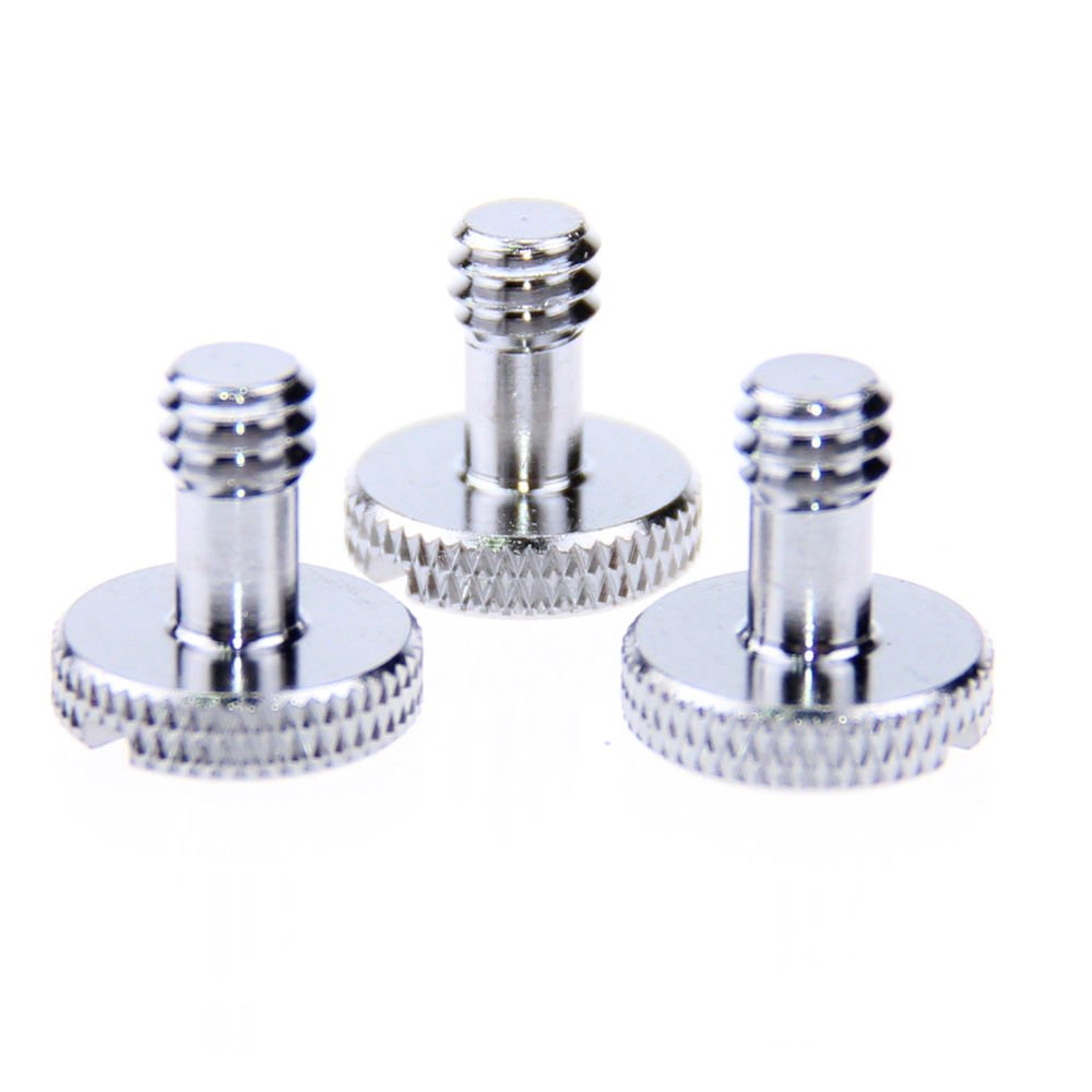 3PCS 1/4-20 male thread screws for tripod monpod convert adapter