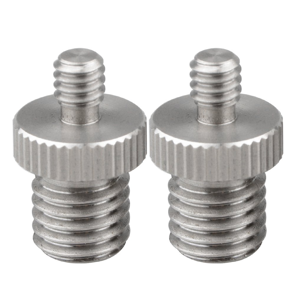 """CAMVATE 1/4"""" Male to M12 Male Double-end Screw Adapter for DSLR Rig C1571"""