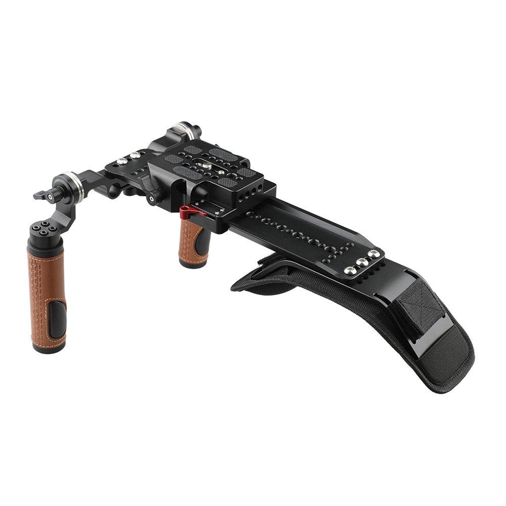 CAMVATE Shoulder Rig Handle Kit For C100 200 300 / Sony fs5 fs7 / Panasonic AU-EVA1 C1893